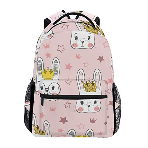 Schoolbag Cute Rabbit Star Pink Animal Mochila Student Daypack Regalo De Viaje College Printed School Bag Book...