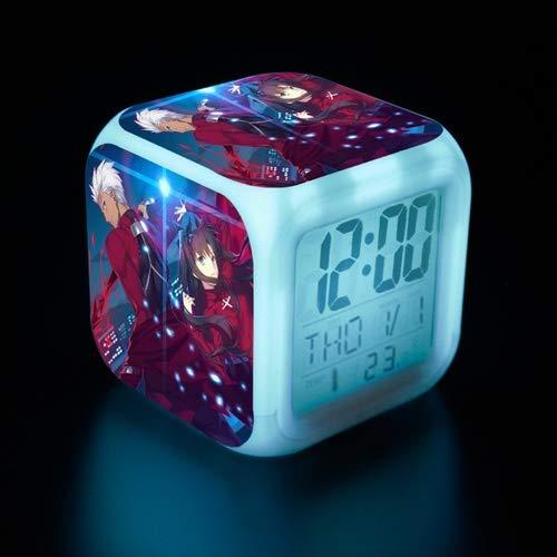 DMWSD Alarma electrónica digital del reloj Luz de noche en