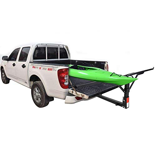 Black Mockins Heavy Duty Steel Pick Up Truck Bed Extender with Ratchet Straps The Hitch Mount Truck Bed Extension can be Used for Lumber or a Ladder or a Canoe /& Kayak