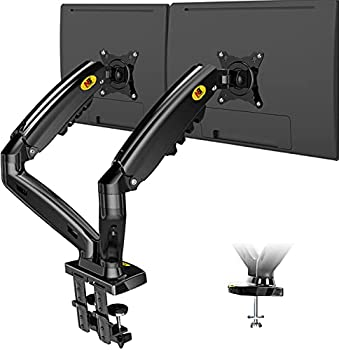 NB North Bayou Dual Monitor Desk Mount Stand Full Motion Swivel Computer Monitor Arm for Two Screens 17-27 Inch with 4.4~19.8lbs Load Capacity for Each Display F160