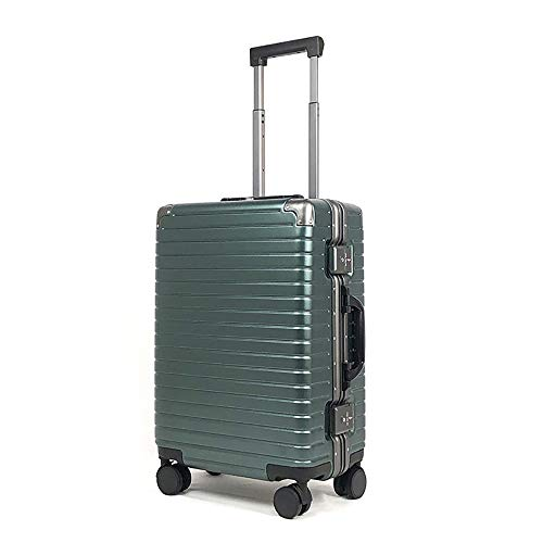 YASB ABS + PC Password Expandable Luggage, with Universal Wheel, Aluminum Frame, Customs Lock, Suitcase, TPU Shock Absorption, Double Anti-Theft,Green,S