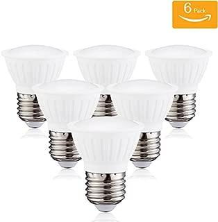 3Watt PAR16 LED Bulb Replacement 25Watt Halogen Bulbs,Short Neck Dimmable E26 Medium Base 120 Degree Flood Light Bulb 2700K Warm Glow LED Spot Light(Pack of 6)