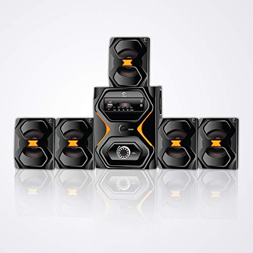 IKALL IK222 5.1 Home Theater Systems with USB, Aux in, FM, Bluetooth with Remote