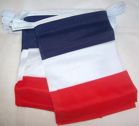 AZ FLAG Guirlande 4 mètres 20 Drapeaux France 15x10 cm - Drapeau français 10 x 15 cm