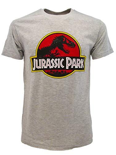 Camiseta Jurassic Park original gris, producto oficial de Dinosaurios Jurassic World, camiseta unisex gris M
