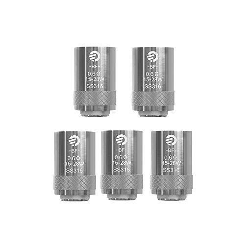 Oubbi Joyetech BF SS316 0,6 Ohm Verdampferköpfe für Joyetech eGo AIO/Cubis Pro Atomizer(5 Stück)