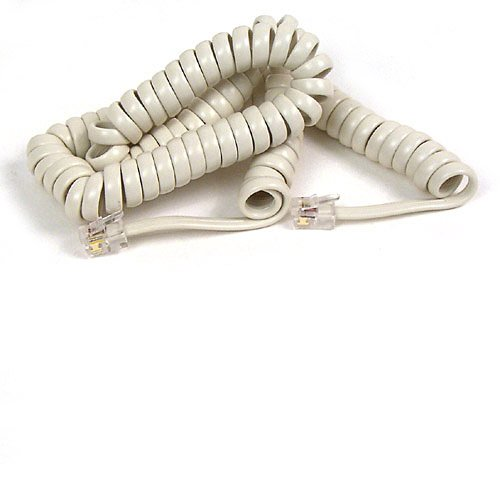 Belkin Pro Series Coiled Telephone Handset Cord (Ivory, 12 Feet)