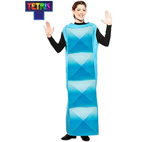 Tetris Disfraz de Figura Azul Claro para Adultos