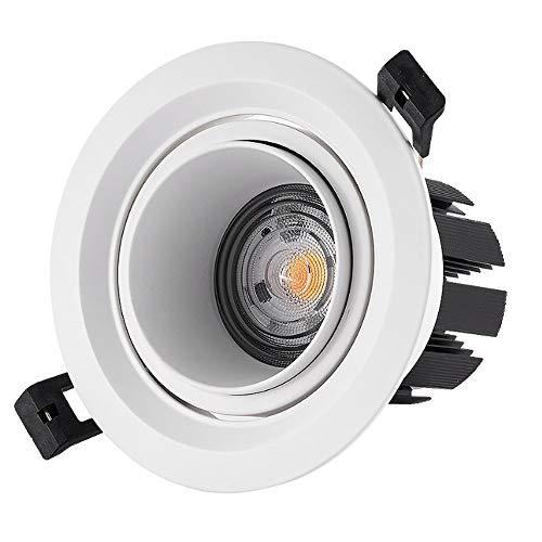 HETX7 24W COB Techo Luz LED Empotrable Downlight, Ahorro de energía Downlights LED LED Empotrado Focos de techo Luces de panel LED 3500K / 4000K / 6000K For Office Commercial (Color : 3500K)