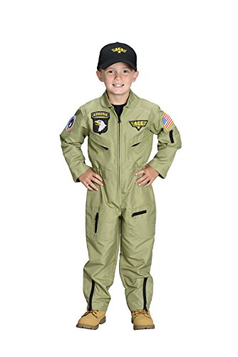 Aeromax Jr. Fighter Pilot Suit with Embroidered Cap, Size 2/3.