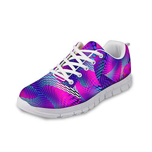 MODEGA schillernde Schuhturnschuhe Bunte Schuhe für Männer Schuhe Männer Schuhe Männer Art und Weise beiläufige Bowlingschuhe für Männer Tennisschuhe Sportschuhe für Frauen Größe 44 EU|9 UK