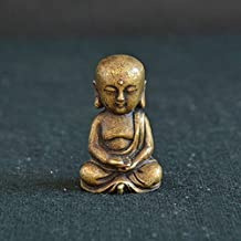 ZGPTX Antique Bronze Buddha Statue Ornaments Pure Copper Pocket Tibetan Bodhisattva Miniature Desktop Decorations Home Decor