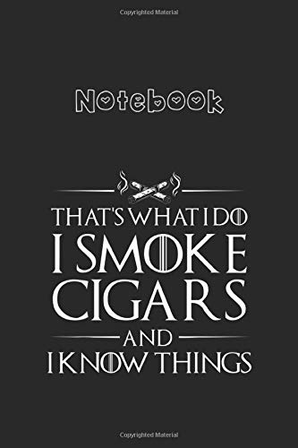 Notebook: Smoke Cigars Smoker Ideal Clever Class Men GiftCollege Ruled Notebook 6''x9'' x 120 Pages Journal with Black Cover for Kids - Family and Friends Cactus Cute