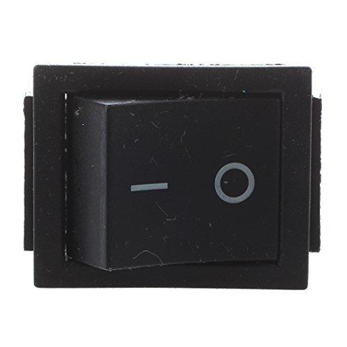 cherrypop 2 piezas negro 4 pines DPST interruptor basculante de encendido/apagado AC 250V/15A 125V/20A