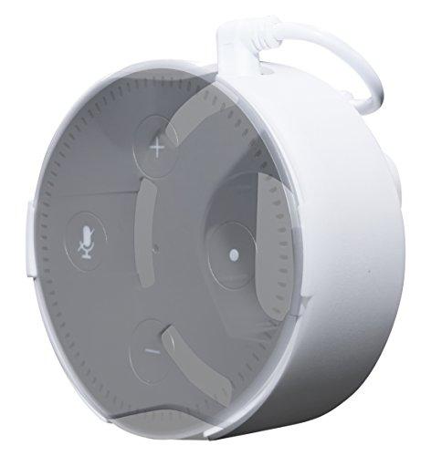 Concept Zero Halterung für Echo Dot (2. Gen.) in weiß - NUR mit dem schwarzen Echo Dot Originalnetzteil kompatibel - Direkt in der Steckdose, Keine Schrauben, kein kleben, USB Kabel, Made in Germnany