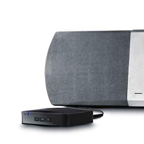 "CSL - Bluetooth HiFi Adapter Receiver / Audio Surround Empfänger inkl. NFC sowie Mikrofon | schnurloser Musikadapter / Bluetooth-Empfänger für Audiogeräte | Bluetooth V3.0 (A2DP + AVRCP) | Eingebautes Mikrofon (""Hands free"")"