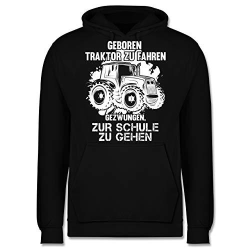 Shirtracer Andere Fahrzeuge - Geboren um Traktor zu Fahren - L - Schwarz - Hoodie Herren 4XL - JH001 - Herren Hoodie und Kapuzenpullover für Männer