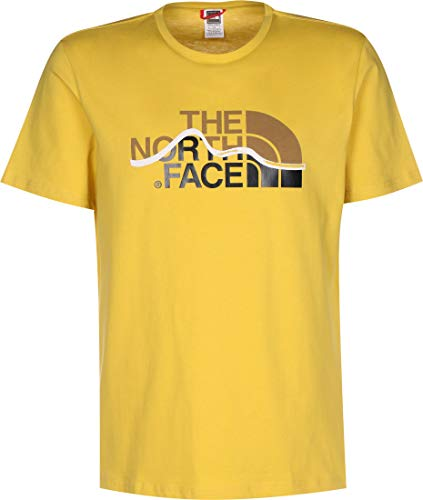 The North Face M S/S Mount Line T-Shirt, Uomo, Bamboo Yellow, XS