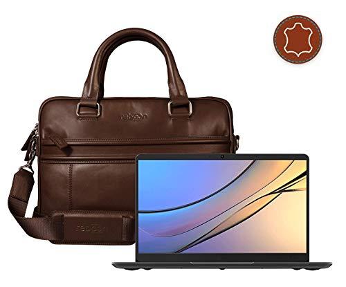 Computer Portatile Borsa per Huawei MateBook D in Marrone Cuoio