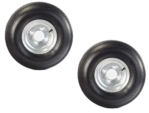 2-Pk Equipment Trailer Tire Rim 5.70-8 570-8 5.70X8 LRB 4 Lug Galvanized Wheel