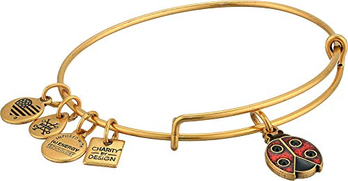 Alex and Ani Ladybug Charm Bangle Bracelet - Rafaelian Gold Finish