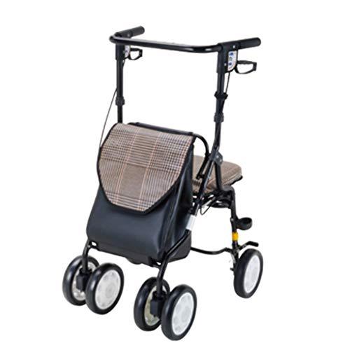 Gxy Seniorenhilfe Einkaufswagen Einkaufswagen Einkaufswagen Einkaufswagen Kleinwagen Sitzen und Falten Tragkraft 75 kg, blau, 57 * 50 * 83.5