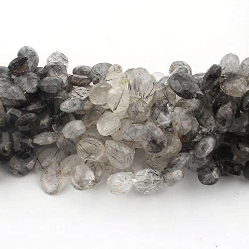 GemAbyss Tampa Mall Beads Gemstone New mail order 2 Strand Face Tourmilated Natural Quartz