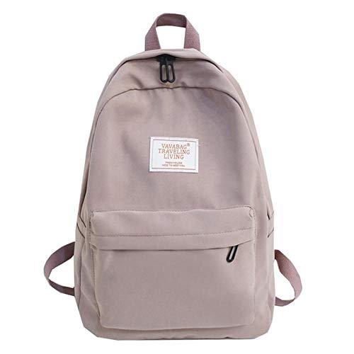 Rucksack Damen Rucksack Weibliche High-Capacity High School Tasche Retro Mädchen Umhängetasche Reisetasche Lila