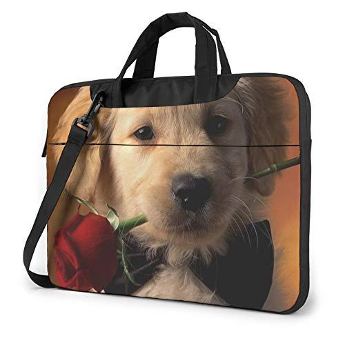 Bolsa de hombro para portátil, diseño de esqueleto de calavera impresa, a prueba de golpes, impermeable, para portátil, Bonito perro para mascotas (Morado) - 259841