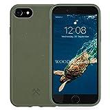 Woodcessories - Bio Hülle kompatibel mit iPhone SE (2020) / 8/7 / 6 / 6s - Nachhaltig, biologisch abbaubar - BioHülle Grün