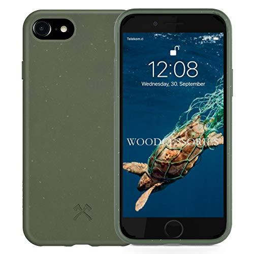 Woodcessories - Handyhülle kompatibel mit iPhone SE 2020 Hülle grün, iPhone 8 Hülle grün, iPhone 7/6 / 6s - Nachhaltig, aus Pflanzen
