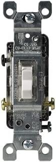 Leviton L30-01461-GLW C24-01461-Glw Heavy Duty Toggle Switch, 120 V, 15 A, 1 P, White