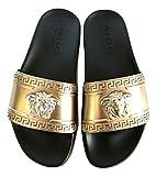Versace Unisex Adulto Pantufla Dorado Size: 39.5 EU