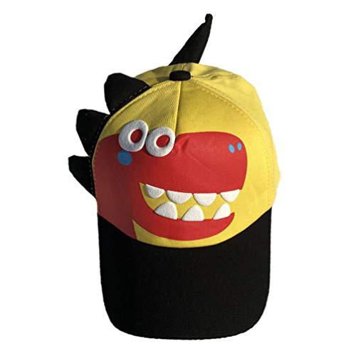 PRETYZOOM Niños Gorra de Béisbol Dinosaurio Sombrero de Verano Dibujos Animados Bloqueador Solar Gorra de Béisbol para Niños Niñas Al Aire Libre (Adecuado para 2-7 Años)