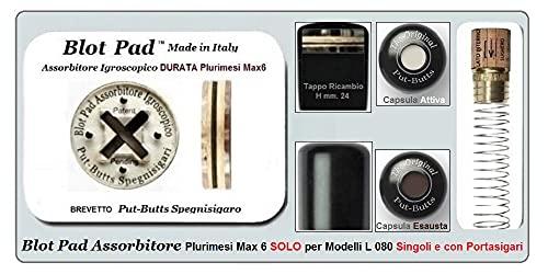 Spegnisigaro per Toscano Put - Butts Spegnigaro Made in Italy. Dal Produttore la Nuova Capsula Anticondensa Antiodori Blot Pad DURATA Plurimesi Max6 e Ricambi Meccanismo Interno.