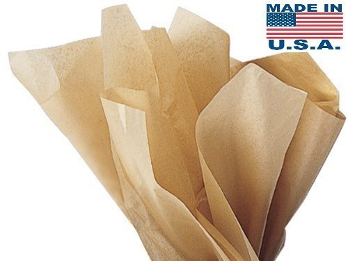 Acid-Free Kraft Tissue Paper - 100 Sheets 15 Inch x 20 Inch Ph Neutral Premium Tissue Paper A1 bakery supplies HIGH Quality Paper Made in USA