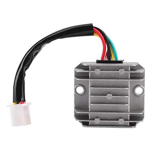 Blantye Regulador de rectificador de Voltaje 12V 4 Cables para Motocicleta ATV Dirt Scooter Quader