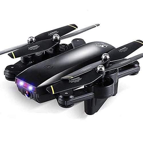 Drone Gps, Drone 4Ch 2.4Ghz Telecomando Mini Drone Con Videocamera 720P Hd Fpv Wi-Fi Feed Video In Diretta Quadcopter Pieghevole Senza Testa Rtf Una Chiave Take Off Flips Rolls Altitude Hold Easy Fly