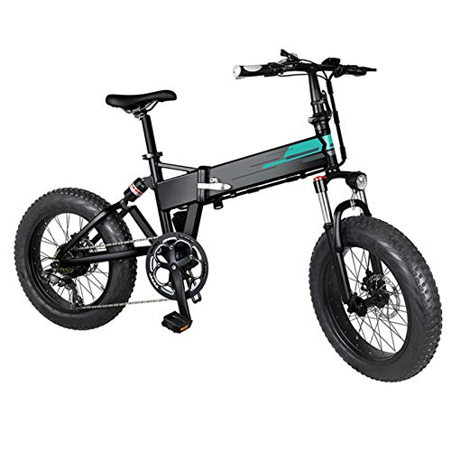 BLKO Fiido M1 Electric Mountain Bike 20x4 inch Auminum Electric Folding Fat Bike, Level 3 Speed Regulation,36V 12.5Ah Large Cpacity Battery Electric Foldable Bicycle