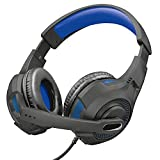 Headset Gamer Trust GXT 307B Ravu - Preto e Azul
