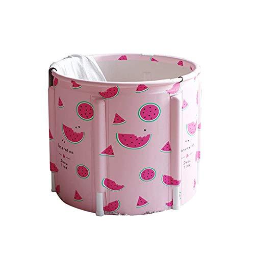 SYN-GUGAI Bath Barrel Bañera Plegable para Adultos, Bañera Plegable de plástico Grueso Independiente para el hogar, Bañera portátil no Inflable de 120 cm Bañera Plegable de PVC/SPA,A