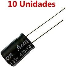 10x Condensador Electrolitico Polarizado 470uF 35V 17x10mm