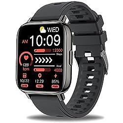 Multifunctional Smartwatch: Cette montre connectée comprend des fonctions plus pratiques telles que le trackers d'Activité ( Podometre, Distance, Calories ), moniteur de santé, multitude de cadrans, cadran personnalisé, 8 modes sport, chronomètre, tr...