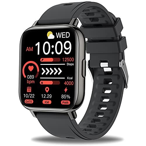 Sudugo Smartwatch Herren Damen, 1.69-Zoll Farbdisplay Smart Watch Fitness, 24 Sportmodi Armbanduhr Fitnessuhr, IP67 Wasserdicht Fitness Tracker, Schrittzähler Pulsuhr Schlafmonitor Stoppuhr Sportuhren