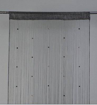 Badass Sharks Perlen-/Fransen-Vorhang, für Türen/Terrasse/Fenster, Verwendung als Fliegengitter/Trennwand schwarz
