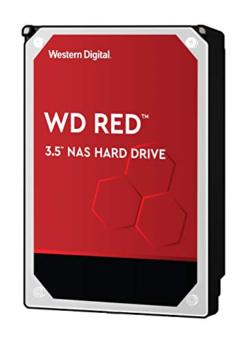 "WD Red 10TB NAS Hard Drive - 5400 RPM Class, SATA 6 Gb/s, 256 MB Cache, 3.5"" - WD100EFAX"