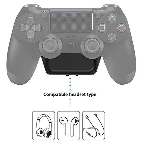 DZSF Draadloze Bluetooth 5.0 Audio Ontvanger zender voor PS4 Dualshock 4 Mini 3.5Mm Aux Stereo Adapter voor Bluetooth Headset