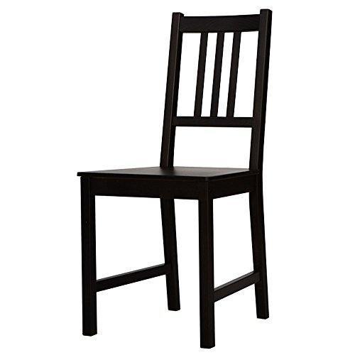 Xiaolin Moderne Minimaliste À Manger Chaise Nordique en Bois Massif Chaises Maison Adulte Chaise Créative De Mode Restaurant Noir en Bois Chaise (Couleur : Noir)