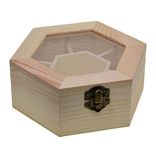 kowaku Caja de Almacenamiento de Madera Sin Terminar con Labio Organizador de Almacenamiento Moderno con 7 Compartimentos