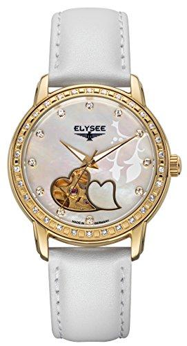 Elysee Unisex volwassene analoog automatisch horloge met lederen armband 11001